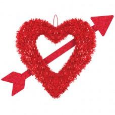 TINSEL HEART AND ARROW