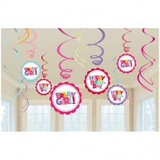 Hot Spot Girl Hanging Swirl Decorations