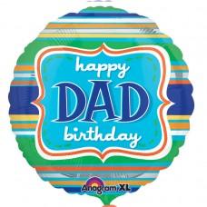 18IC:HAPPY BDAY DAD STRIPES