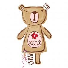 Get Well Huggable Bear