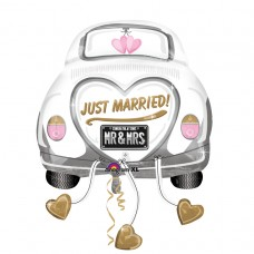 S/SHAPE:JUST MARRIED WED CAR