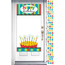 Dots & Stripes Personalised Door Banner