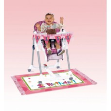 Pink High Chair Decorating Kit
