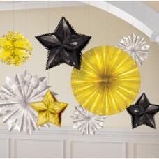 Black, Silver & Gold Starburst Decorating Kit