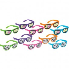 GLASSES 80 S PRINTED LENSES