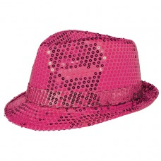 HAT FEDORA SEQUIN PINK