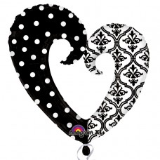 S/SHAPE:DAMASK & DOTS HEART