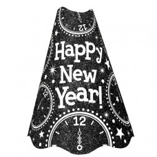 CONE HAT GLTR BLACK NEW YEAR S