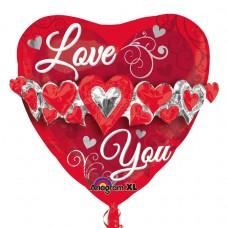 MULTI:LOVE YOU HEART GARLAND