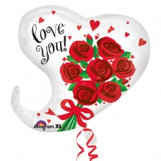 18H:CURVY LOVE YOU RED ROSES