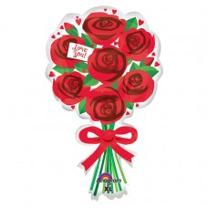S/SHAPE:LOVE YOU RED ROSES