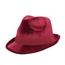 Burgundy Fedora Hat