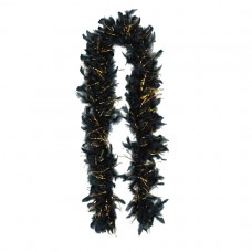 Black & Gold Tinsel Boa