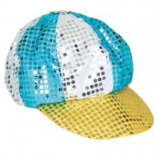 70's Disco Multi Coloured Sequined Hat