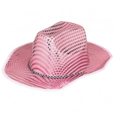 70's Disco Pink Sequined Cowboy Hat