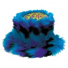 HAT:BLUE FUR & LEOPARD