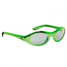 Green Metallic Oval Glasses