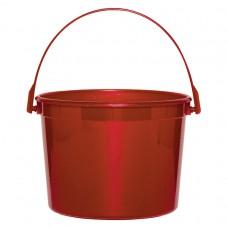 BUCKET PLASTIC APPLE RED