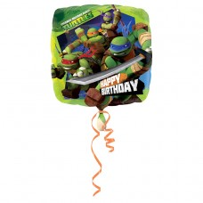 Ninja Turtles Happy Birthday  Foil Balloon