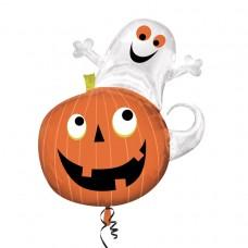 S/SHAPE:Ghost on Pumpkin