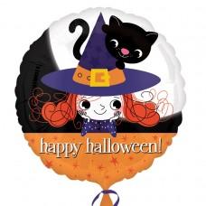 SD-C:Halloween Witch & Kitty