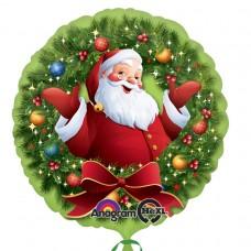 CD-C:Jolly Santa in Wreath