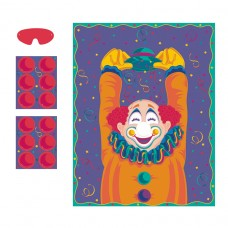 Pin the Clown Nose Party Game