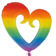 Rainbow Open Heart