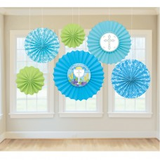 DEC PAPER FAN COMMUNION BLUE