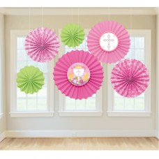 DEC PAPER FAN COMMUNION PINK