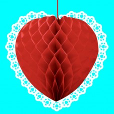 Red Heart-Shaped Honeycomb