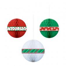 HONEYCOMB BALLS CHRISTMAS