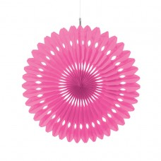 Bright Pink Hanging Fan Decoration 40.6cm