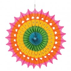 Rainbow Hanging Fan Decoration 40.6cm