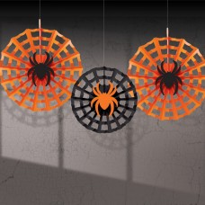 FAN DEC PPR SPIDERWEB W/SPIDER