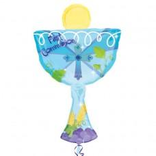 1st Communion Blue Chalice