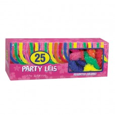 BOX OF ASSORTED POLY LEIS 25CT