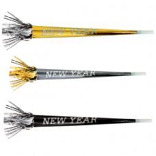 Happy New Year Foil Glitter Horns