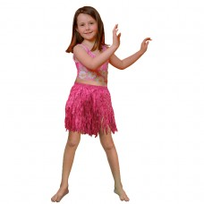 Hawaiian Themed Party Child size Tissue Hula Skirt - Pink