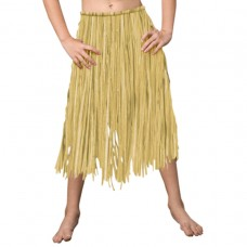 Hawaiian Themed Party Child Grass Skirt - Natural