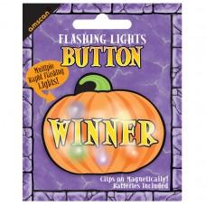 Winner Flashing Pumpkin Button