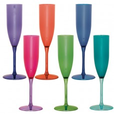 Jewel Tone Plastic Champagne Glass