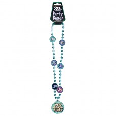 The Party Continues 30th Bead Necklace