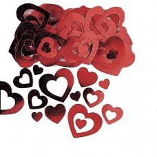 Die-Cut Red Heart Confetti