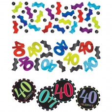 40th Chevron Confetti