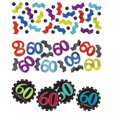 60th Chevron Confetti