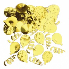 Gold Party Balloons Confetti