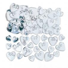 Silver Loving Hearts Confetti