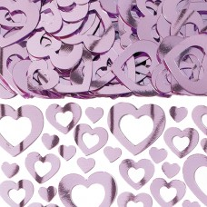 Pink  Hearts Shimmer Confetti