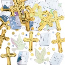 CONFETTI emb:REJOICE gold/slvr